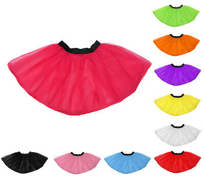 New Neon UV Flo Tutu Skirt Hen Fancy Dress Party 3 Layers Of Net Plus Colours UK • 3.89£
