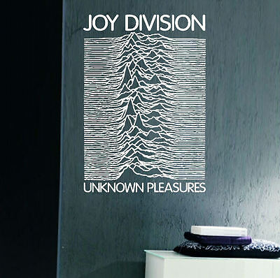 Large Music Band Joy Division Unknown Pleasures Wall Art Sticker Transfer Decal • 12.82£