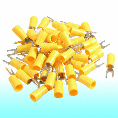AU10.34 • Buy 50 Pcs SV5.5-4S AWG 12-10 Yellow Pre Insulated Fork Terminals Connector