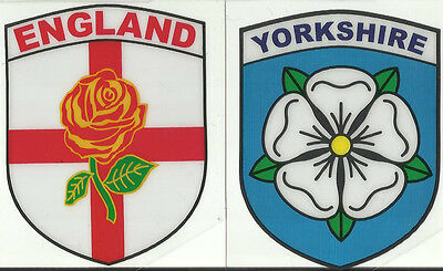 Set Of 2 War Of The Roses Yorkshire Lancashire Roses Internal Car Sticker Decals • 5.99£