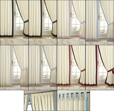 Claremont Satin Lined Tab Top/ Pencil Pleat Tape Top Curtains In Various Colours • 30.99£