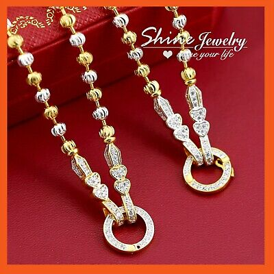 AU7.73 • Buy 18K GOLD GF N114 FIGARO CURB CHAIN For Pendant LADIES GIRLS SOLID NECKLACE 45CM