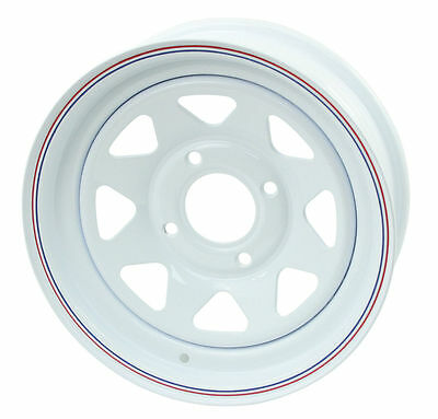 AU183.14 • Buy Bug Baja White Spoke Steel Wheels 4 Lug 15x8  2  Back Space 10-1005