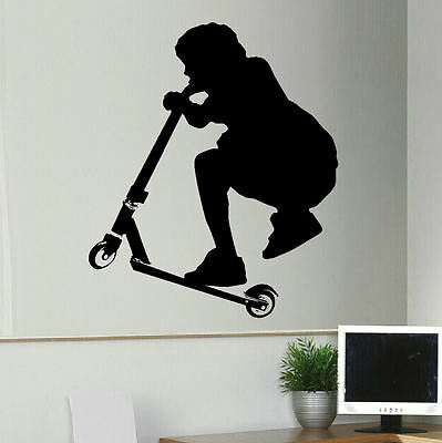 £18.49 • Buy Extra Large Stunt Trick Scooter Child Bedroom Wall Art Sticker Transfer Decal