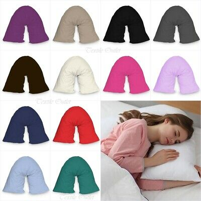 £3.49 • Buy New V Shaped Orthopedic *PILLOW* With Following Color Free Polycotton Pillowcase