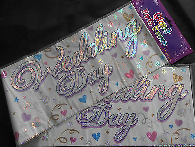3 X Giant  Foil Wedding Day Banners / Wall Banners // Party Decoration • 1.50£