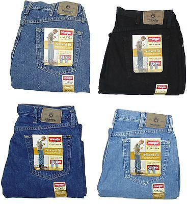 d74d2d69 Wrangler Mens Jeans Relaxed Fit Five Star Many Sizes Many Colors New With  Tags • 19.99