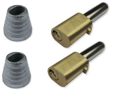 Roller Shutter Bullet Locks Oval And Housings (1 Pair With 4 Keys) Free Postage • 20£