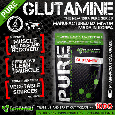 AU24.95 • Buy L-glutamine 100g Micronised Highest Quality  * Muscle Recovery * Bcaa