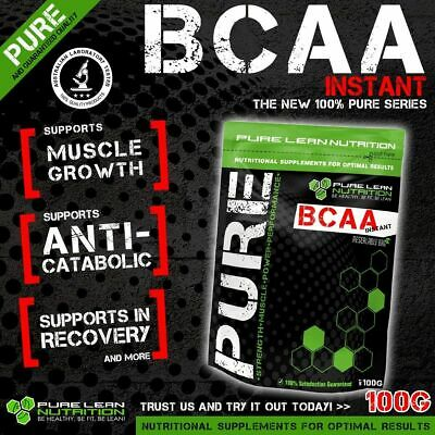 AU16 • Buy Bcaa Powder 100g Instantised Unflavoured Branch Chain Amino Acids Intra Workout