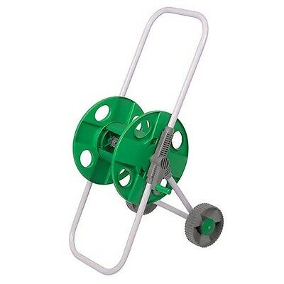 Portable Trolley Hose Pipe Reel Holder Garden Cart Water Pipe Carrier 45m • 14.99£