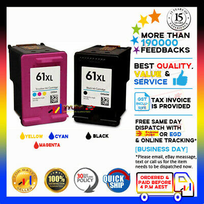 AU49 • Buy 2x NoN-OEM 61 XL Ink Alternative For HP Envy 4500 4504 5530 Officejet 2620 4630