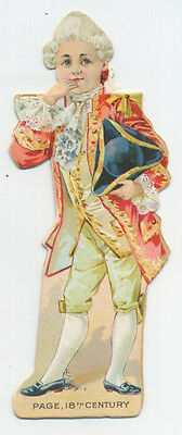 Barbour's Irish Flax Thread Paper Doll - 18th Century Page • 14.25£