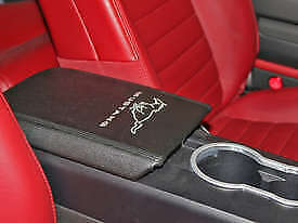 $49.95 • Buy 2005-2009 Ford Mustang Center Console Arm Rest Pad Cover Black W/ Running Horse