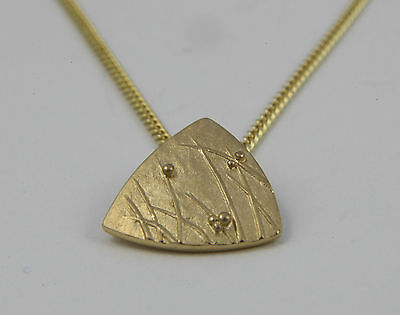 Ola Gorie Large Mistral Pendant 9ct Yellow Gold 18  Chain Scottish Boxed • 175£