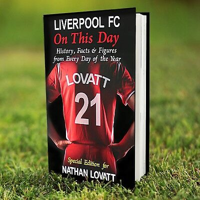 Personalised LIVERPOOL Football Club FC On This Day BOOK Gift Fun Facts • 14.49£