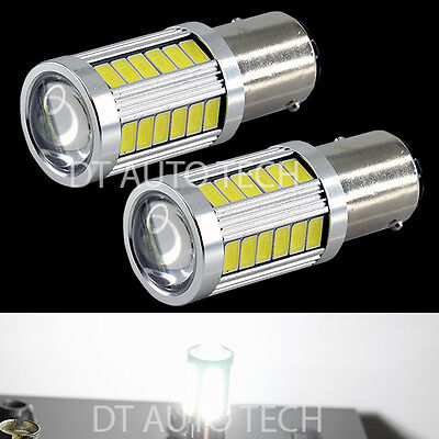 $13.48 • Buy 2X 900 Lumens 1157 Projector LED  White Turn Signal Brake Tail Stop Lights Bulbs