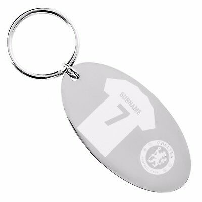 Personalised Chelsea FC KEYRING Engraved Football Club Supporter Gift - Add Name • 13.49£