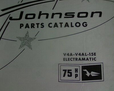 AU29.95 • Buy VINTAGE 1963 Johnson 75 Hp. Electramatic, Outboard Motor SPARE PARTS MANUAL Book