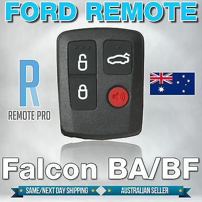 AU8.50 • Buy To Suit Ford BA BF Falcon Sedan/Wagon Central Locking Keyless Car Remote Button