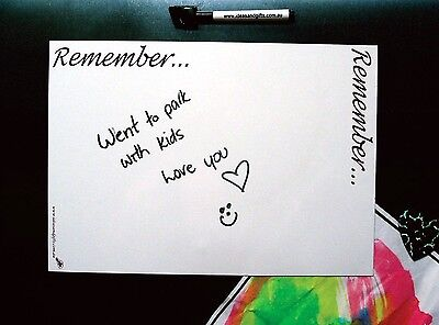 AU12.50 • Buy A4 Reminders Family Fridge Whiteboard Message Board Magnet Home Office Memo Pens