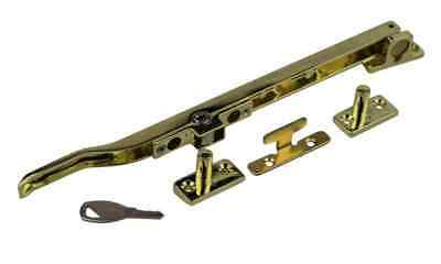 Timber Wooden Locking Casement Window Stay Polished Brass Basta Replacement • 9.20£