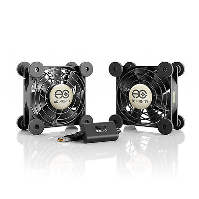 $14.99 • Buy MULTIFAN S5, Quiet Dual 80mm USB Cooling Fan For Receiver DVR Computer Cabinets