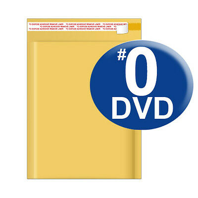 $39.99 • Buy Size 0 6.5x9 Kraft Bubble Mailer DVD CD (WIDE)  250 Ct (SHIPS TODAY)