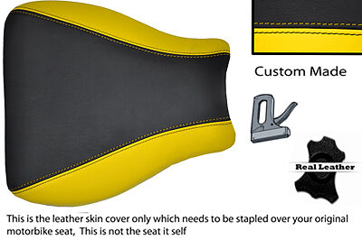 $68.10 • Buy Custom Black And Yellow 01-02 Fits Suzuki Gsxr 1000 Leather Front Seat Cover