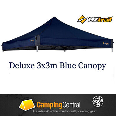 AU119.95 • Buy OZTRAIL 3x3m (300D BLUE) CANOPY ROOF DELUXE GAZEBO REPLACEMENT BLUE COVER TOP