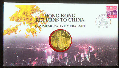 £209.41 • Buy HONG KONG RETURNS To CHINA COMMEMORATIVE MEDAL In STAMPED COVER DATED JUNE 1997