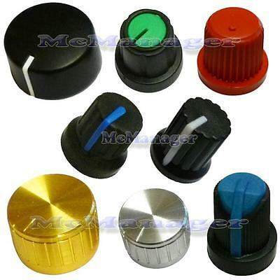 Various Type Of  Potentiometer/Encoder Knobs For 6mm Shaft • 0.99£