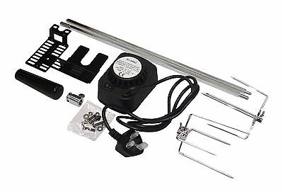 £45.99 • Buy Bbq Barbecue Rotisserie Spit Universal Kit Gas Or Charcoal Battery Or Electric