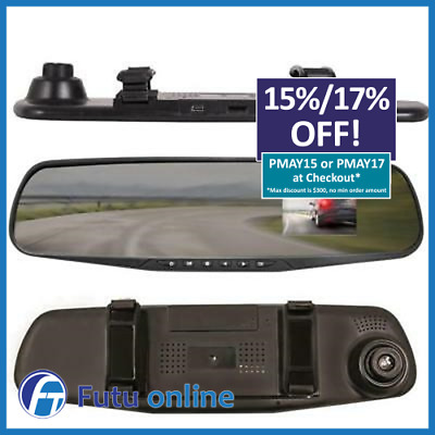 AU45 • Buy Smart Rear View Mirror J2D 2.4  Replacement Car DashCam Camera Record 1080P