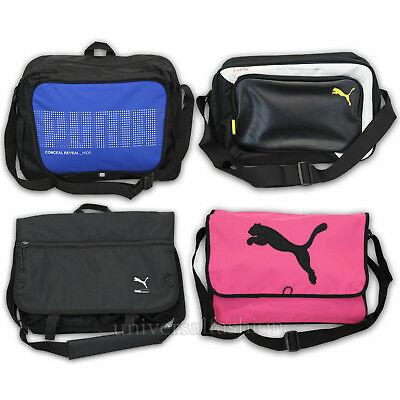 Mens PUMA CAT Bag Womens Deck Shoulder King Messenger School Satchel Laptop New • 17.95£