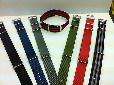 £5.95 • Buy Military Style Nylon Fabric Watch Strap / Band  Army, Divers 18, 20, 22mm