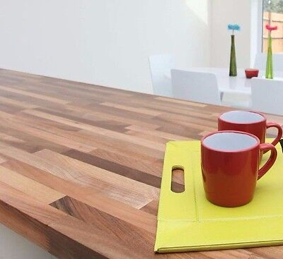 Free Tin Of Oil Sale Solid Wood Walnut Real Wood Worktop Bespoke Sizes Available • 4.99£