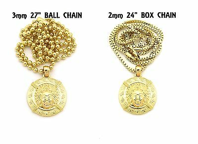 £7.20 • Buy New Medusa Face Pendant W/3mm27  Ball Chain & 2mm24  Box Chain Necklace FXMP22