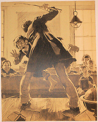$ CDN1833.42 • Buy Norman Rockwell - Signed Ltd Ed  Print 18/200  The Caning  - Corporal Punishment