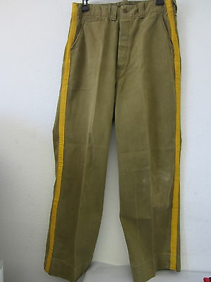 Vintage 1940's WWII US Army Military Artillery Men Button Up Trousers A-12F0B • 73.14£