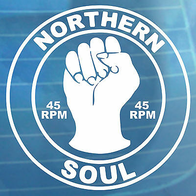 Northern Soul Car Sticker 45 RPM Van Bumper Window Vinyl Decal • 3.99£