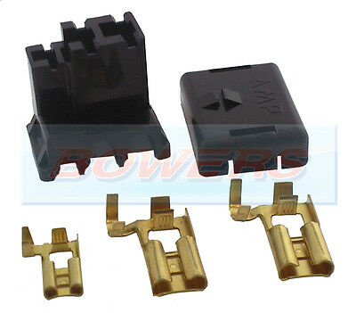 A127 Acr Alternator 3 Pin Wiring Connector Plug Lucas/bosch + Terminals • 3.95£