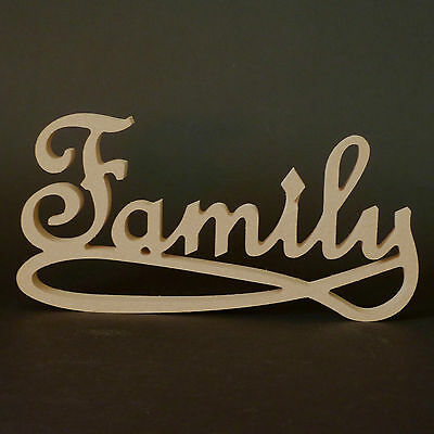 Family Wooden Word - Freestanding Unpainted 18mm MDF • 7.14£