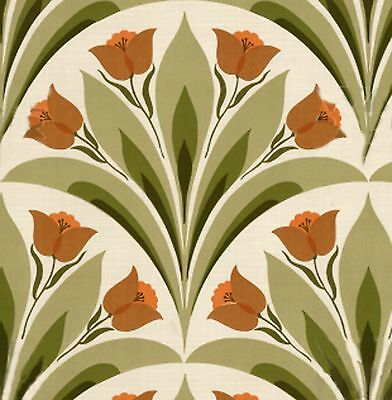 Danish Mid Century Original Designed Tuliip Wallpaper 1960s 50s VARIOUS COLORS • 117.23£