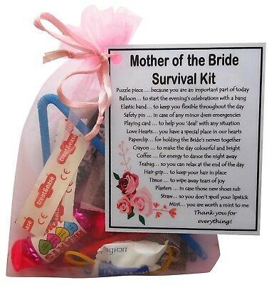 Mother And Father Of The Bride Or Groom Survival Kit  Great Novelty Keepsake • 6.95£