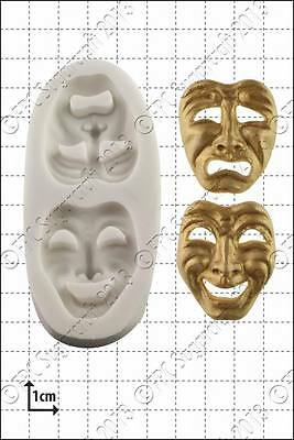 £8 • Buy Silicone Mould Comedy And Tragedy Masks   Food Use FPC FREE UK Shipping!