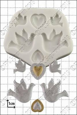 £9.50 • Buy Silicone Mould Doves And Hearts | Food Use FPC Sugarcraft FREE UK Shipping!