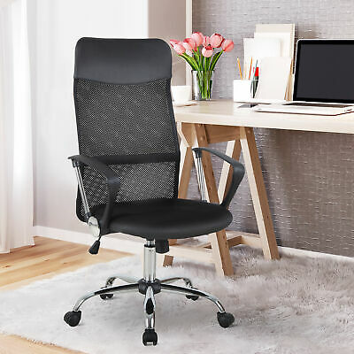 £54.99 • Buy Executive Office Chair High Back Mesh Chair Seat Office Desk Chairs Height