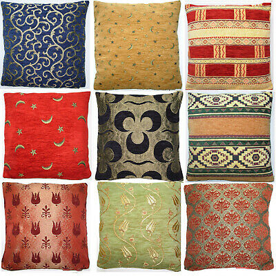 Reversible Double Sided Chenille Cushion Cover 16 X16  Turkish Designs Kilim • 6.99£