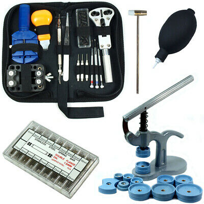 $ CDN40.70 • Buy Watch Repair Tool Kit  - Case Opener Link Remover Case Press W/ 360 Spring Bars
